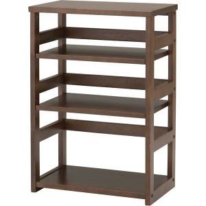 プリンター台 オープンラック 木製 デスクサイド シェルフ オフィス家具 おしゃれ 棚 ラック 幅50|arne