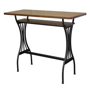 ハイテーブル カウンターテーブル 棚付き バーテーブル 幅120cm バーカウンターテーブル モダン AT-125CT Brno|arne