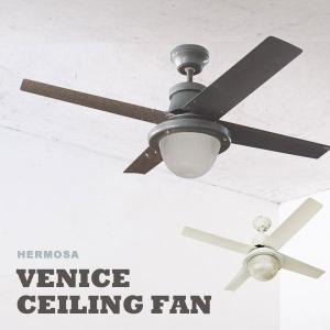 シーリングファンライト 1灯 シーリングファン 北欧 カフェ アメリカン 天井照明 リモコン CF42-003 VENICE CEILING FAN|arne