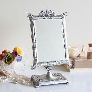 卓上ミラー 鏡 卓上鏡 姫系 インテリア 家具 鏡 かわいい アンティーク調 テーブルミラー エレガント ゴシック  スタンド TABLE MIRROR ST-534|arne