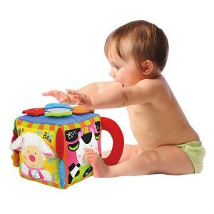 赤ちゃん 音の出る おもちゃ サイコロ クッション ぬいぐるみ 0歳 TYKK10603 ミュージカル・ファーム|arne