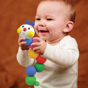赤ちゃん おもちゃ 6ヶ月 カラフル いもむし イモムシ ボール かわいい 遊び 玩具 TYKK10610 チェーン・インチワーム|arne