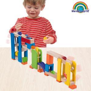 おもちゃ 子ども 3歳 知育玩具 積み木 ピタゴラスイッチ風 ボール転がし装置 TYWW7005 Trix Trackハンマースラマー|arne