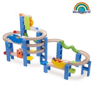 ピタゴラスイッチ風 おもちゃ 子ども 3歳 知育玩具 積み木 ボール転がし装置 TYWW7014 Trix Trackスパイラルコースター|arne