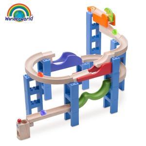 ピタゴラスイッチ風 おもちゃ 子ども 3歳 知育玩具 積み木 ボール転がし装置 TYWW7015 Trix Trackバウンシングスパイラル|arne