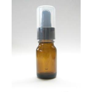 遮光ビン 10ml アンバー(茶色) スポイト付き 遮光瓶 香料ビン 香料瓶 ガラス瓶 薬瓶 容器 ...