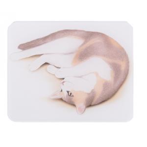 かわいい、おしゃれな印鑑マット【三毛猫】コンパクトサイズ 100mm×80mm aroma-etoile