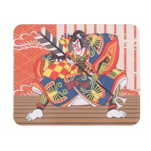 かわいい、おしゃれな印鑑マット【歌舞伎】コンパクトサイズ 100mm×80mm aroma-etoile