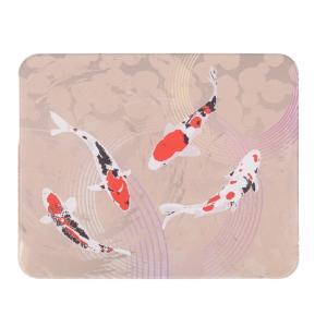 かわいい、おしゃれな印鑑マット【鯉】コンパクトサイズ 100mm×80mm aroma-etoile