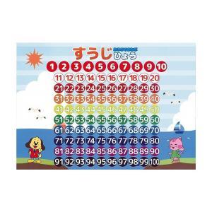 数字 学習ポスター A3サイズ (420×297mm)【日本製 知育玩具 A3 ポスター 学習ポスター】|aroma-etoile