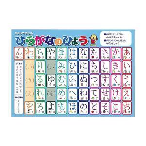 ひらがな 学習ポスター A3サイズ (420×297mm)【日本製 知育玩具 A3 ポスター 学習ポスター】|aroma-etoile