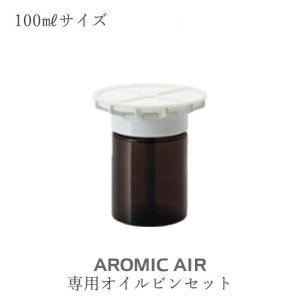 アロミック・エアー交換部品【専用オイルビンセット】キャップ部+ビン(100mlサイズ) aroma-spray
