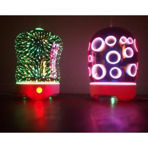 海外製 3D エフェクト デザイン ディフューザーセット 暗闇 光 着せ替え クリスマス プレゼント 花火 7色|aromadressing