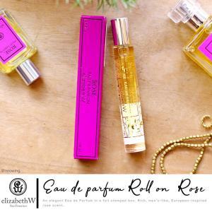 香水 持ち運び 携帯用 エリザベスW signature ロールオン ローズ 10ml ROSE エリザベスダブリュー 送料無料|aromagestore