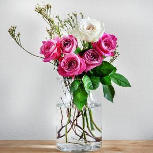 フラワーベース 花瓶 ガラス製 インテリア雑貨 キッチン 玄関[SMitem] お部屋のインテリアにワンポイントをプラス|aromagestore