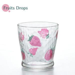 日本製 フルーツドロップ フリーカップ イチゴ 石塚硝子 かわいい グラス おしゃれ アデリア aromagestore