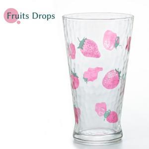 日本製 フルーツドロップ タンブラーL イチゴ 石塚硝子 かわいい グラス おしゃれ アデリア aromagestore