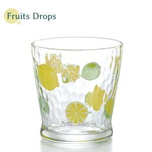 日本製 フルーツドロップ フリーカップ レモン 石塚硝子 かわいい グラス おしゃれ アデリア aromagestore
