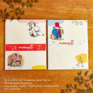 レターセット かわいい パディントン Paddington cozyca products 日本製 美濃 和紙 キャラクター 大人 メール便 おしゃれ シンプル|aromagestore