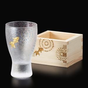グラス ビアグラス タンブラー お酒 日本製 花火 酒グラス 枡 ペアセット プレミアムニッポン ギフト 紙化粧箱入り aromagestore