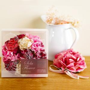母の日 ギフト プレゼント SolaFlower ソラフラワーリース 花 リース 淑やかで洗練されたダリアをイメージした香り aromagestore