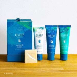 ラグジュアリーBOX SCOTTISH FINE SOAPS スコティッシュファインソープ シーケルプ 乾燥しがちな手指に海藻エキスで潤いを|aromagestore