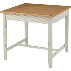 ダイニング テーブル W80cm 2人 木製 パイン ダイニング リビング シャビーシック フレンチ アンティーク 家具 インテリア|aromainterior