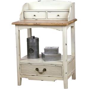 コンソール 電話台 棚 木製 パイン リビング 廊下 寝室 シャビーシック フレンチ アンティーク 家具 インテリア|aromainterior