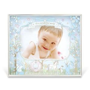 フォトフレーム 写真立て 写真たて ガラス ベビー EINE キシマ ブルー ピンク KP-31079 aromainterior