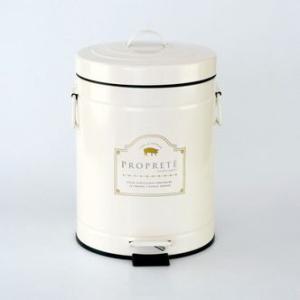 ゴミ箱 ゴミ入れ ペダル ダストボックス M おしゃれ かわいい アンティーク アイボリー ピンク KH-60725 キシマ|aromainterior