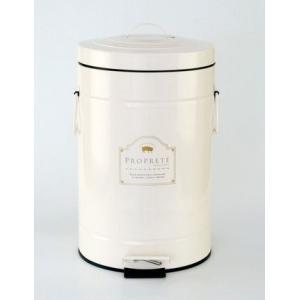 ゴミ箱 ゴミ入れ ペダル ダストボックス L おしゃれ かわいい アンティーク アイボリー ピンク KH-60726 キシマ|aromainterior