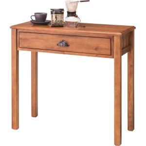 天然木製 コンソールテーブル デスク W80xD35xH72cm 寝室 おしゃれ|aromainterior