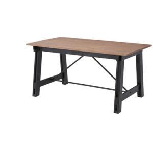 ダイニングテーブル 150×80 天然木 ブラック 男前インテリア|aromainterior
