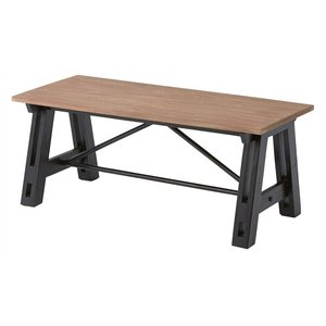 コーヒーテーブル 天然木 ブラック 男前インテリア|aromainterior