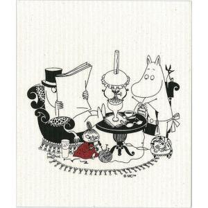 スポンジワイプ 北欧 毎日 ふきん フキン 台拭き ムーミン パパ読書中|aromainterior