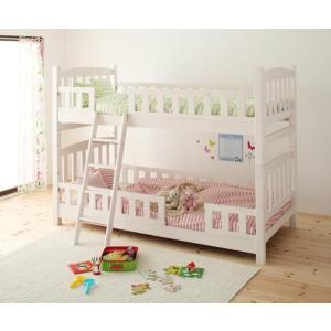 天然木 コンパクト 分割式 2段ベッド 二段ベッド 子供用 fine ファイン ブラウン/ホワイトウォッシュ aromainterior