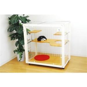 送料無料 猫 キャット ケージ extail エクステイル 9M slim クリアー cat inn [キャットドア付] 選べるカラー3種類 aromainterior
