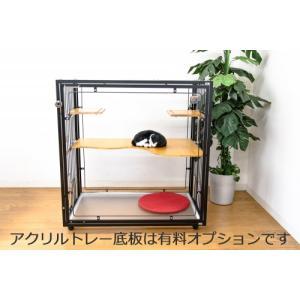 送料無料 猫 キャット ケージ extail エクステイル 9M slim クリアスルー cat inn  [基本ベーシックモデル] 選べるカラー3種類 aromainterior