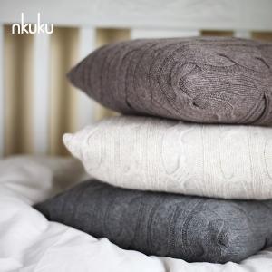 nkuku ラムウール クッションカバー 本体サイズ:42×42cm|aromaroom