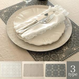 マチルドエム プレイスマット ホワイト ライトグレー グレー|aromaroom