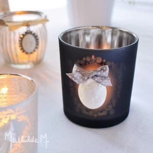 キャンドルホルダー おしゃれ ガラス / グレーメダリオン マチルドエム|aromaroom