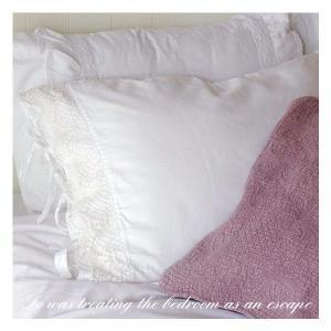 枕カバー ピローカバー 50cm×70cm  アンティーク レースピロカバー|aromaroom