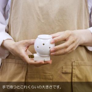 アロマライト コンセント ポマンミニ 電気 アロマポット 陶器|aromatherapy|05