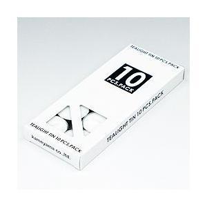 キャンドル ティーライト 10個入 白箱 (メール便可/2点まで) aromatherapy