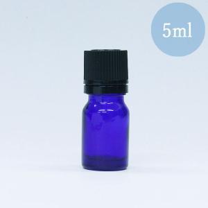 遮光瓶 ドロッパー付き 容器 ノーマル 5ml 青色 ガラス 遮光ビン|aromatherapy