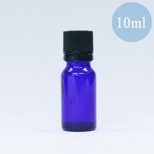 遮光瓶 ドロッパー付き 容器 ノーマル 10ml 青色 ガラス 遮光ビン|aromatherapy