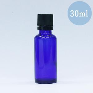 遮光瓶 ドロッパー付き 容器 ノーマル 30ml 青色 ガラス 遮光ビン|aromatherapy