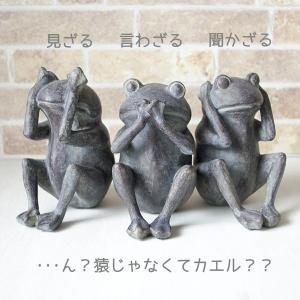 スタッフのコメント♪ 日光東照宮の三猿でおなじみ「見ざる言わざる聞かざる」 カエルさんバージョンです...