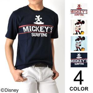 ディズニー ミッキーマウス プリント Tシャツ メンズ|aronacasual