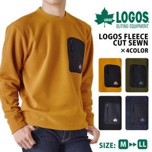LOGOS ロゴス フリースカットソー アウトドア キャンプ ニット セーター メンズ 送料無料 通販 aronacasual